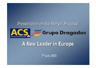 A New Leader in Europe - Grupo ACS