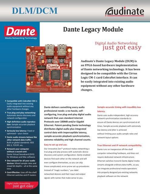Dante Legacy Module