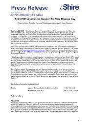 20090226 World Rare Disease Day EU PR.docx - Shire