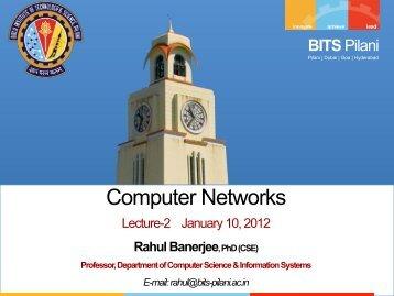 Computer Networks - BITS Pilani