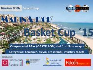 Marina d Or BASKETCUP 2015 Dossier informativo