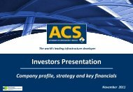 Presentation to Investors - November - Grupo ACS