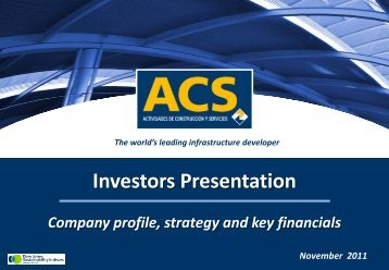 Presentation to Investors - November - Grupo ACS