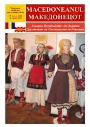 macedoneanul македонецот - asociatia macedonenilor din romania