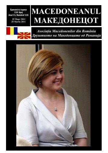 Ziar 116 martie 2011.pub - asociatia macedonenilor din romania