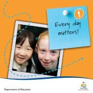 Every day matters! - Department of Education Schools Websites