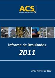 Informe Resultados 2011 - Grupo ACS