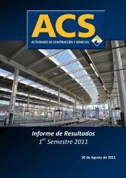 Informe Resultados 1S11 - Grupo ACS