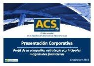 Presentación a Inversores - Grupo ACS