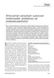 Rinta-aortan sairauksien uusiutuvat hoitomuodot ... - Terveyskirjasto
