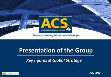 Presentation to Investors - July - Grupo ACS