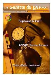 La Gazette du SNPAC / Janvier-Février-Mars 2002 / N° 18 Page 1
