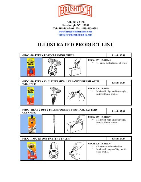 Brushtech 3-1//2-Inch Diameter 14-Inch Long Tube Cylinder Brush