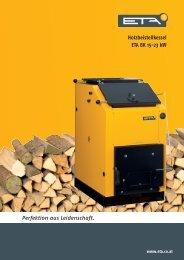 Holzbeistellkessel ETA BK 15-23 kW Perfektion aus Leidenschaft.