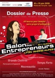 Dossier de Presse du Salon des Entrepreneurs Lyon Rhône-Alpes ...