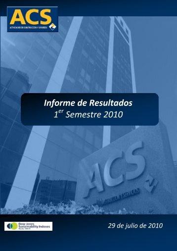 Informe Resultados 1S10 - Grupo ACS