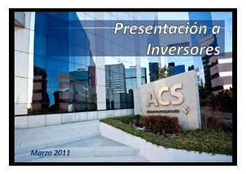 Presentación a Inversores - Marzo - Grupo ACS