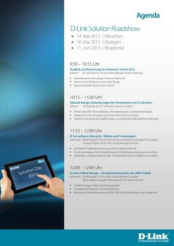Agenda downloaden - Anmeldung D-Link Veranstaltungen