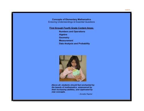 Concepts of Elementary Mathematics - Key School