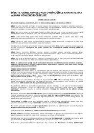 disk 13. genel kurulu'nda oybirliğiyle karar altına alınan yönlendirici ...