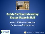 Safely Cut Your Laboratory Energy Use in Half Workshop - UCI ...