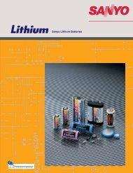 Sanyo Lithium Batteries