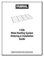 5 Rib Metal Roofing System Ordering & Installation Guide