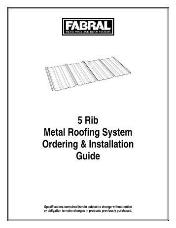 5 Rib Roofing Amp Metal Sales 5 Ft Classic Rib Steel Roof