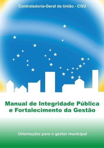 Manual de Integridade Pública e Fortalecimento da Gestão
