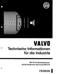 VALVO Technische Information fuer die Industrie - VE6AQO