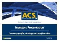 Presentation to Investors - Grupo ACS