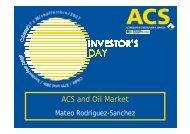 Oil activities - Grupo ACS