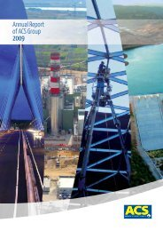 Annual Report of ACS Group - Grupo ACS