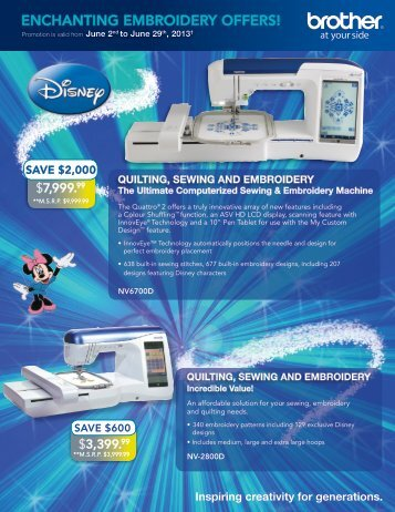 Enchanting EmbroidEry offErs! - Brother Canada