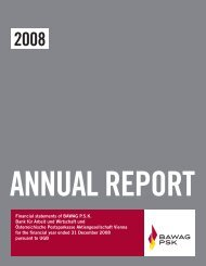 Annual Report 2008 (pursuant to UGB) - Bawag