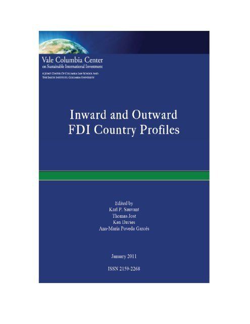 Inward And Outward Fdi Country Profiles Vale Columbia