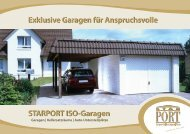 STARPORT ISO-Garagen Exklusive Garagen für ... - Musterhaus.net