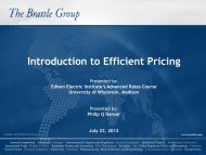 Introduction to Efficient Pricing - Wisconsin Public Utility Institute