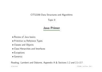 Java Code Inspection Checklist - Undergraduate