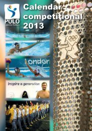 Calendar competitional 2013 - Federaţia Română de Polo