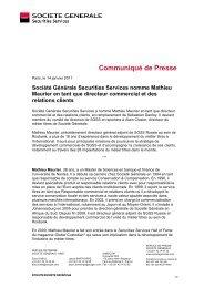 Societe Generale Securities Services nomme Mathieu Maurier en ...