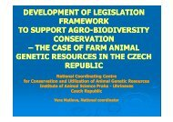 Development of legislation framework to support Agrobiodiversity ...