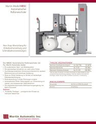 Martin Model MBSC Automatischer ... - Martin Automatic Inc