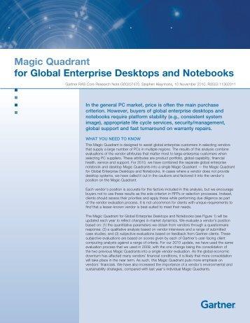 Magic Quadrant for Global Enterprise Desktops and Notebooks