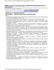 LEGEA nr. 215 din 23 aprilie 2001 Legea administraţiei publice locale