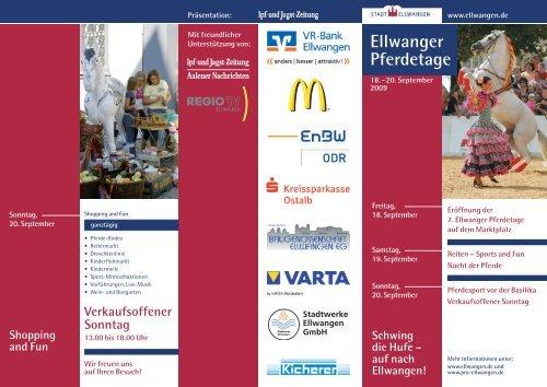 Ellwanger Pferdetage - Pro Ellwangen e. V.