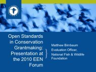 Open Standards in Conservation Grantmaking - Environmental ...
