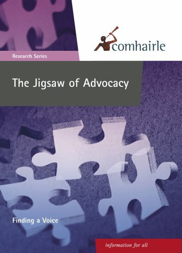 Jigsaw of Advocacy Research Report 2003 - Citizens Information ...