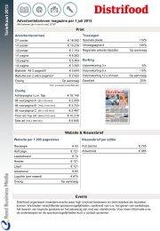 Tariefkaart Distrifood - Adverteren bij Reed Business.nl