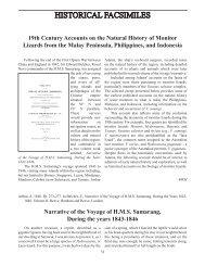 HISTORICAL FACSIMILES - International Varanid Interest Group